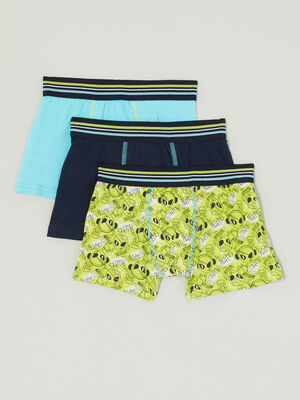 Lot 3 boxers coton majoritaire vert anis garcon