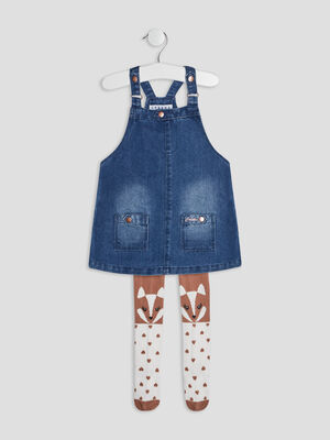 Robe droite en jean Creeks denim double stone bebef
