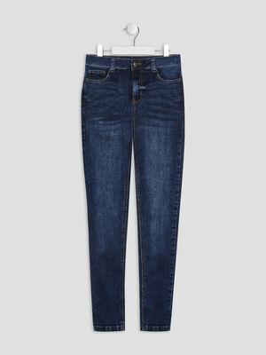 Jeans droit 5 poches denim brut fille