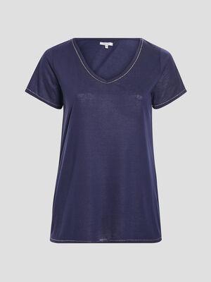 T shirt grande taille bleu marine femmegt