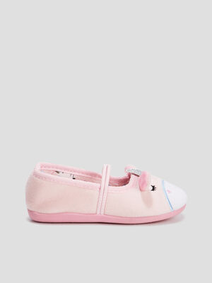 Chaussons ballerines rose fille
