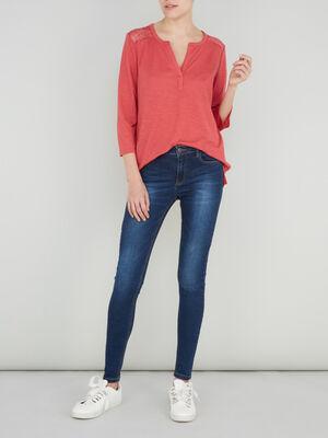 Jean skinny delave taille basse denim brut femme