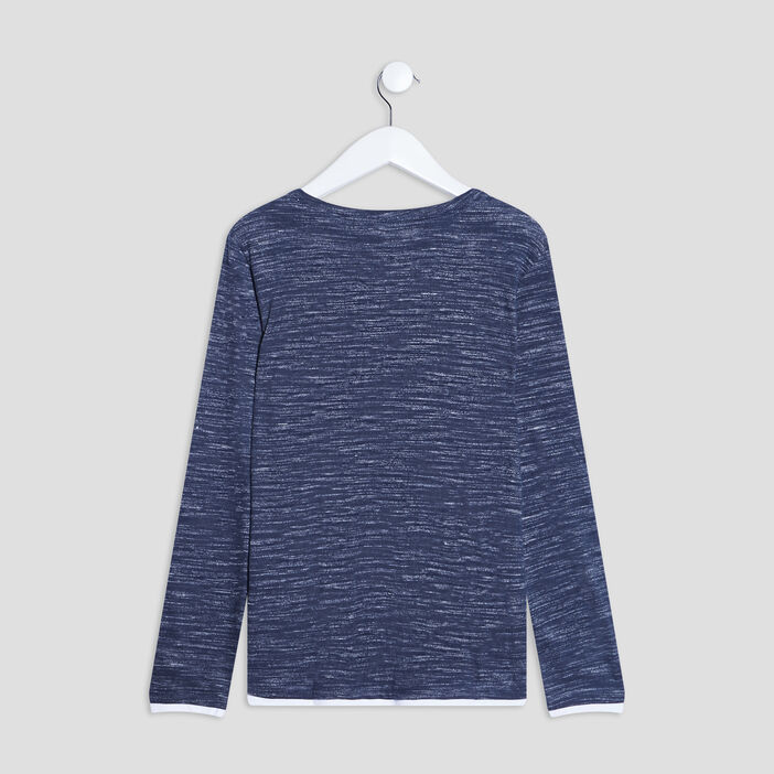 T-shirt manches longues Creeks garçon bleu marine
