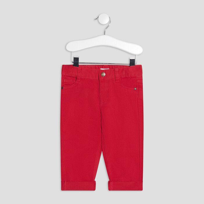 Pantalon droit bébé garçon rouge