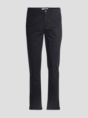 Pantalon straight noir homme