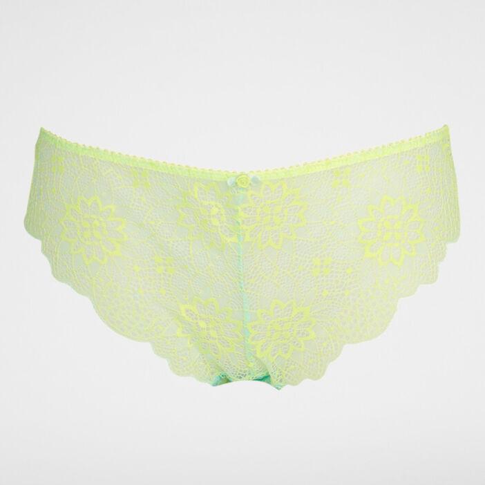 Culotte dentelle bicolore VICKY femme vert clair