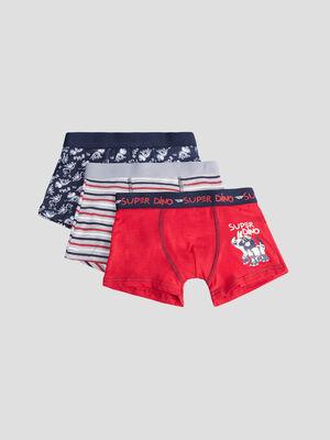 Lot 3 boxers rouge garcon