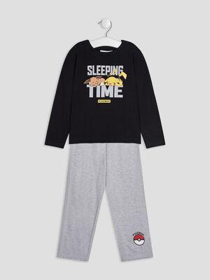 Ensemble pyjama Pokemon gris fonce garcon