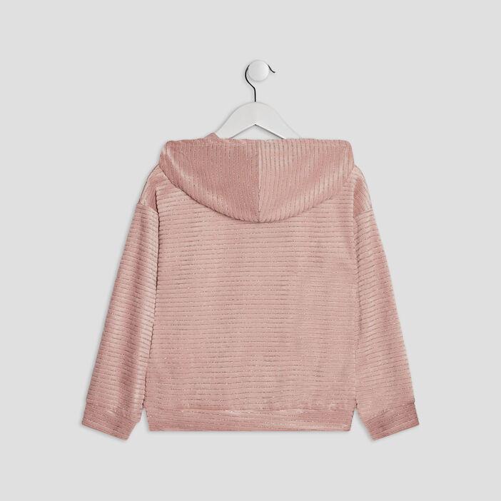 Sweat à capuche Liberto fille rose