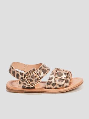 Sandales avec boucles beige fille