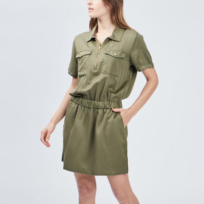 Robe droite Liberto femme vert kaki