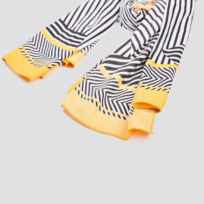Foulard à rayures fantaisie femme multicolore