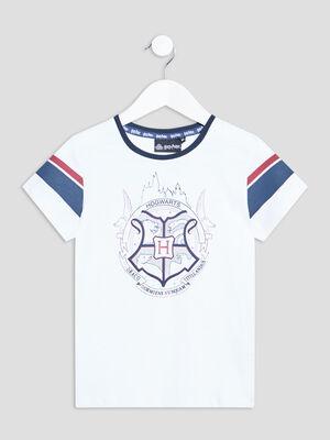 T shirt Harry Potter blanc fille