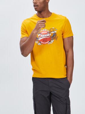T shirt manches courtes Creeks jaune moutarde homme