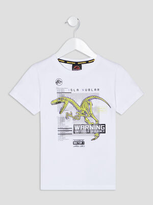 T shirt Jurassic World blanc garcon