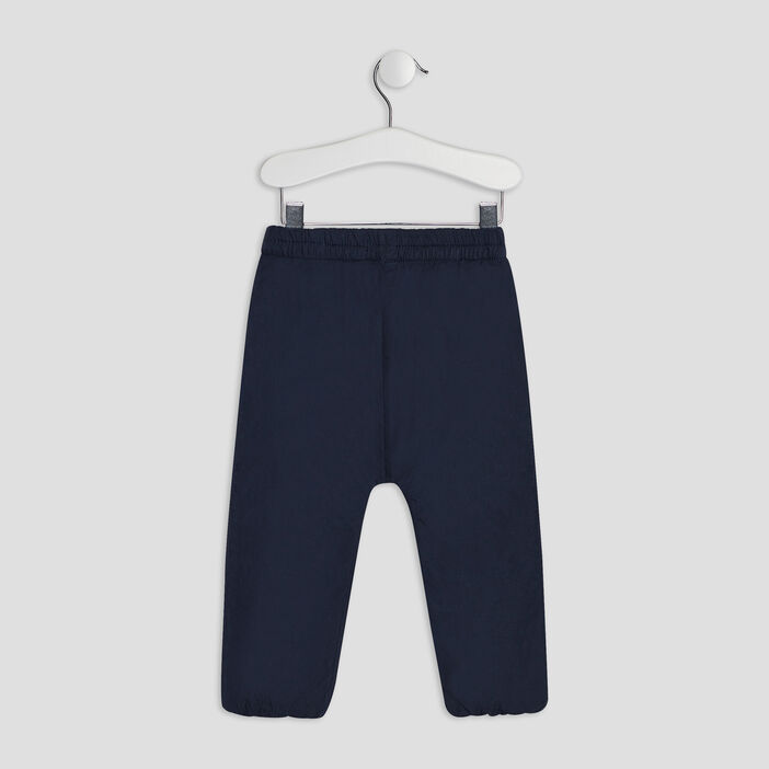 Pantalon droit élastiqué bébé fille bleu marine