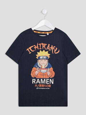 T shirt manches courtes Naruto bleu marine garcon