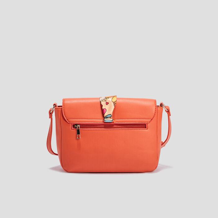 Sac besace avec foulard femme orange