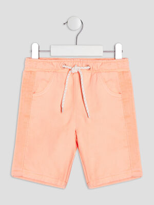 Short droit Liberto orange fluo garcon