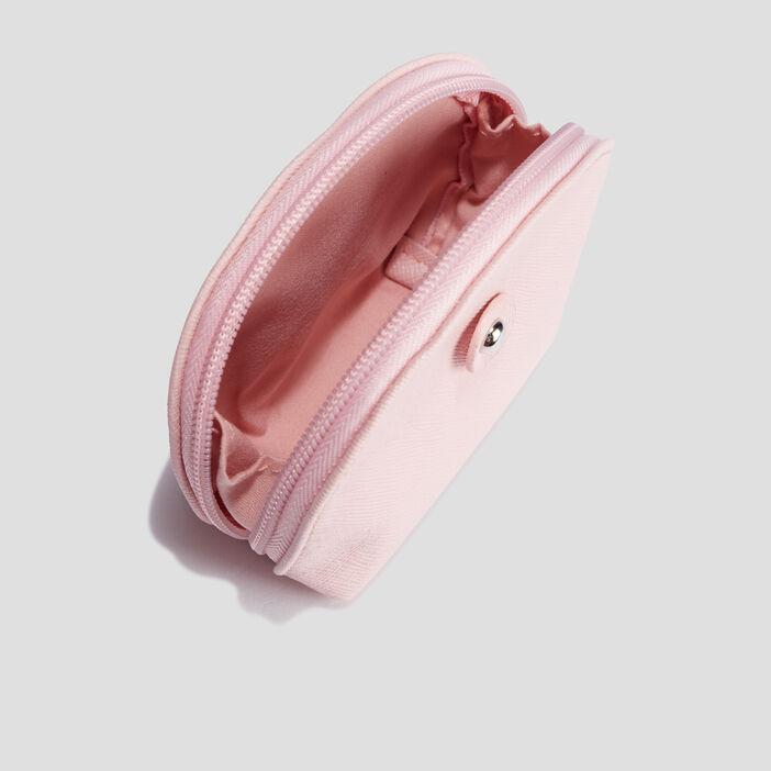 Porte-monnaie arrondi femme rose