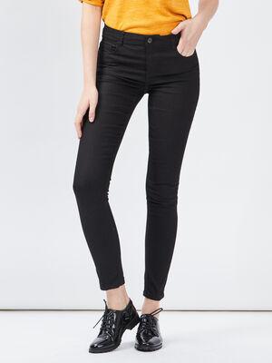 Pantalon skinny taille basse noir femme