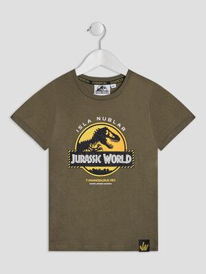 T shirt Jurassic Park vert kaki garcon