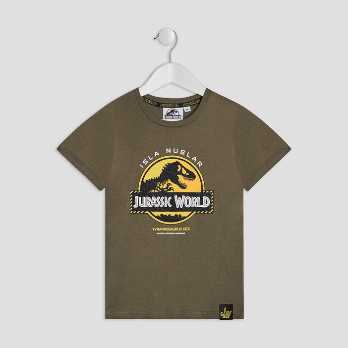 T-shirt Jurassic Park garçon vert kaki