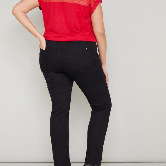 Pantalon uni grande taille femme noir