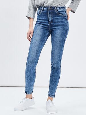 Jeans skinny taille haute denim double stone femme