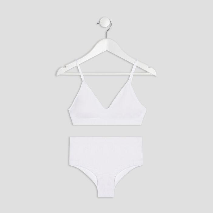 Ensemble lingerie 2 picèes fille blanc