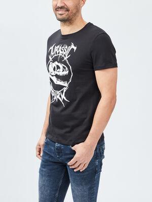 T shirt Jurassic Park noir homme