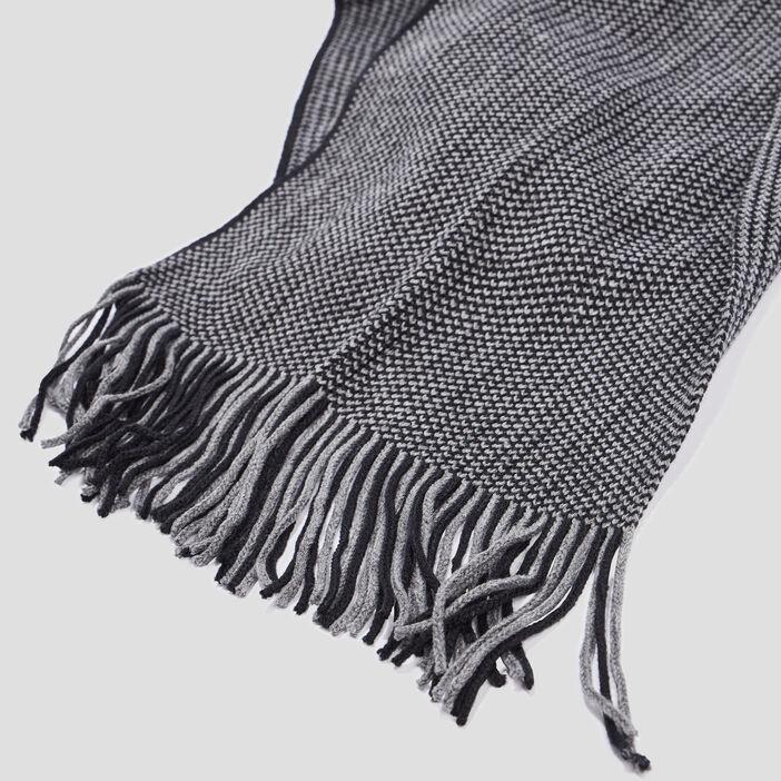 Écharpe avec franges mixte gris