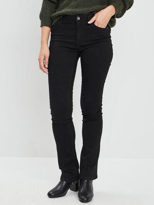 Jeans bootcut taille basse noir femme