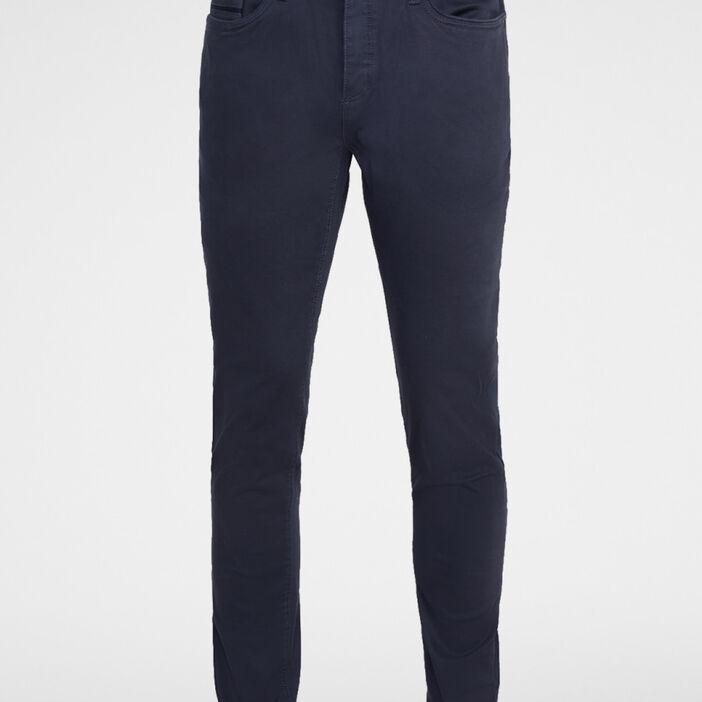 Pantalon 5 poches coton majoritaire homme bleu marine