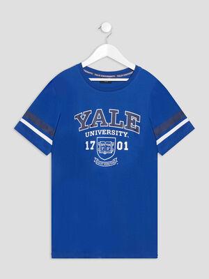 T shirt manches courtes Yale bleu garcon