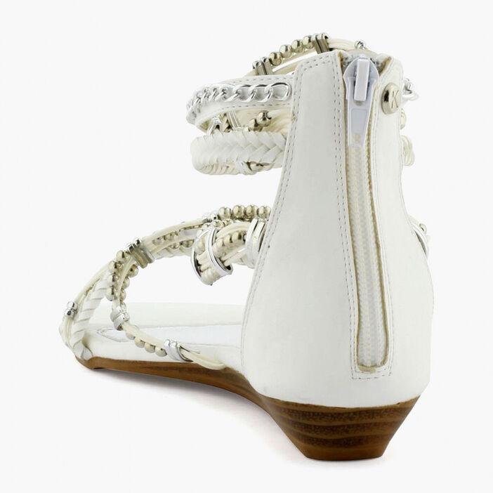 Sandale femme blanc