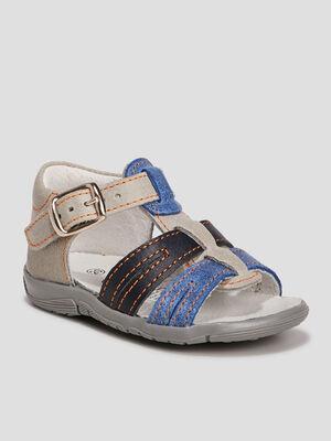 Sandales en cuir gris bebeg