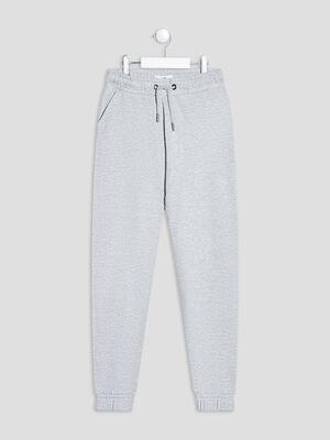 Pantalon jogging droit gris fille