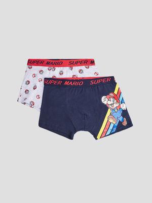 Lot 2 boxers Mario multicolore garcon