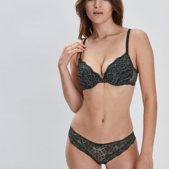 Soutien-gorge ampliforme femme vert kaki