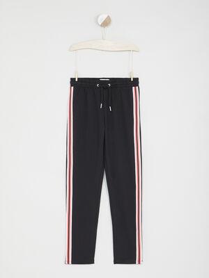 Pantalon de jogging bandes laterales noir fille