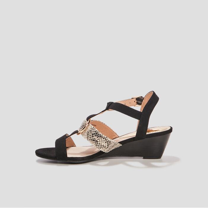 Sandales à boucles Mosquitos femme noir