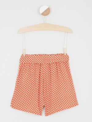 Short Bermuda orange fonce fille
