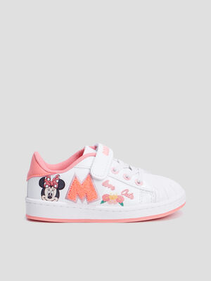 Baskets tennis Minnie blanc fille