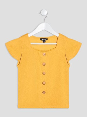 T shirt Liberto jaune moutarde fille