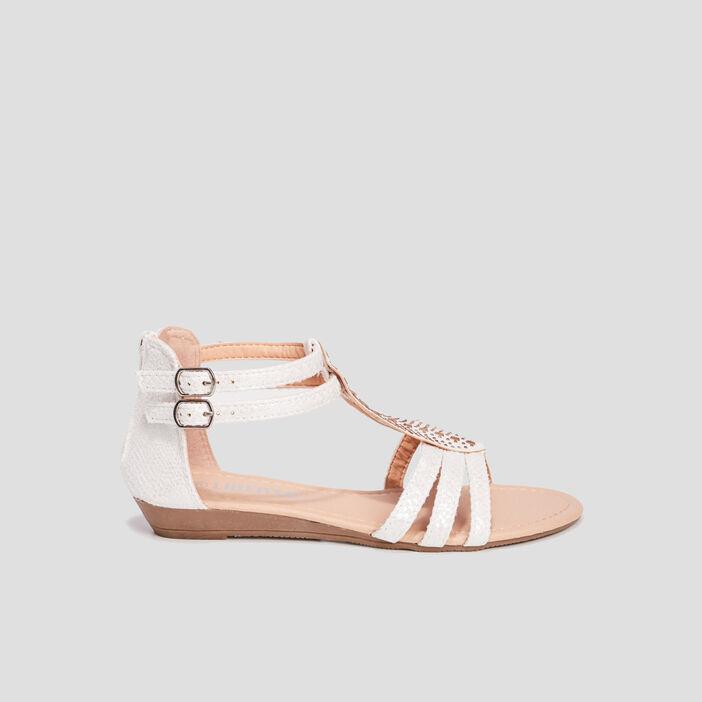 Sandales à ornements fille blanc