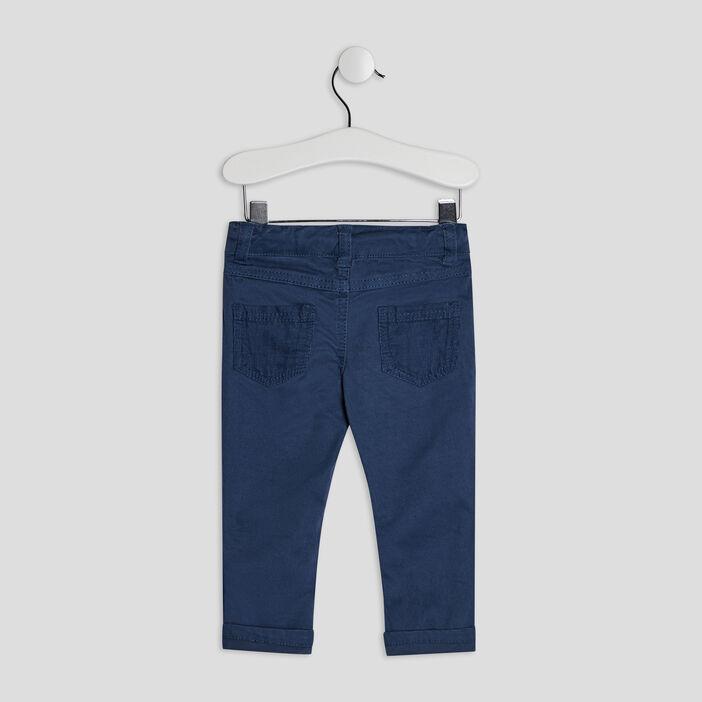 Pantalon droit bébé garçon bleu