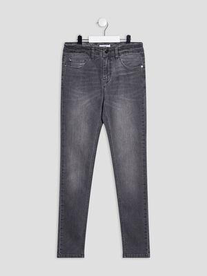 Jeans straight gris garcon