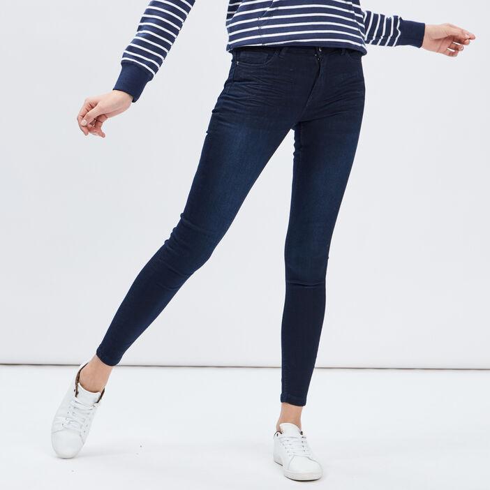 Jeans skinny 5 poches femme denim blue black