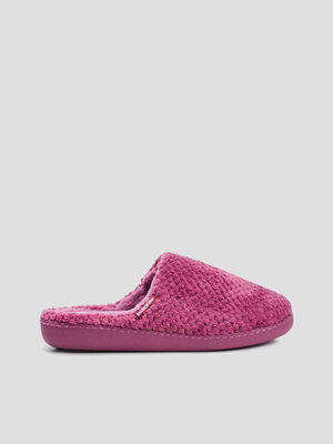 Chaussons mules Isotoner rose femme